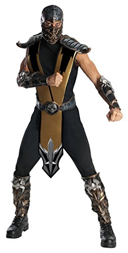 Adult Scorpion Costumes (Adult Mortal Kombat Deluxe Scorpion Costume - fits up to a chest size 44.)