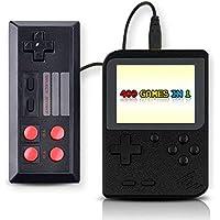 Sanbee Consola Portatil de Videojuegos, Consola de Juegos Retro con Pantalla de 3 Pulgadas, 400 Juegos Clásicas, 1 Extra Joy-con Incluido,Soporta 2 Jugadores (Negro)