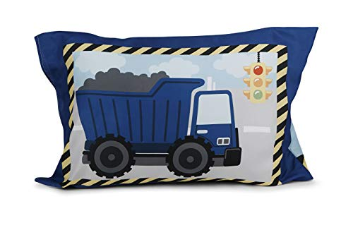 Funhouse Toddler Bed Sheet Set - Includes Fitted Sheet and Pillowcase Set - Construction Trucks Design for Boys Bed, Pack of 2 4