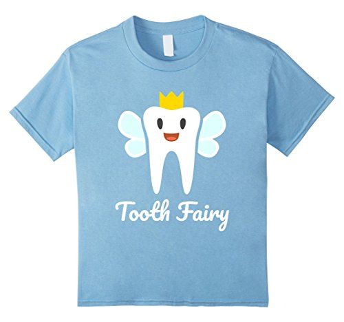 Kids Tooth Fairy Halloween Costume T-Shirt 4 Baby Blue (Toddler Tooth Fairy Costume)