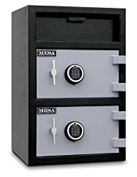 Mesa Safe MFL3020EE Depository Safe, 1.4 Top and 2.2 Bottom interior cubic feet, 2 Compartments