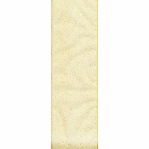 (Offray 594995 Wired Edge Quest Craft Ribbon, 1-Inch x 12-Feet, Gold)