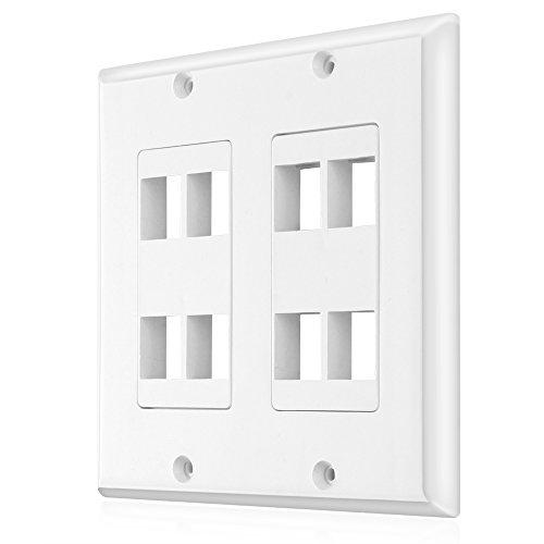 Keystone Jack Wall Plate 1 Port Single Gang Plug Socket Cover Outlet Mount Panel