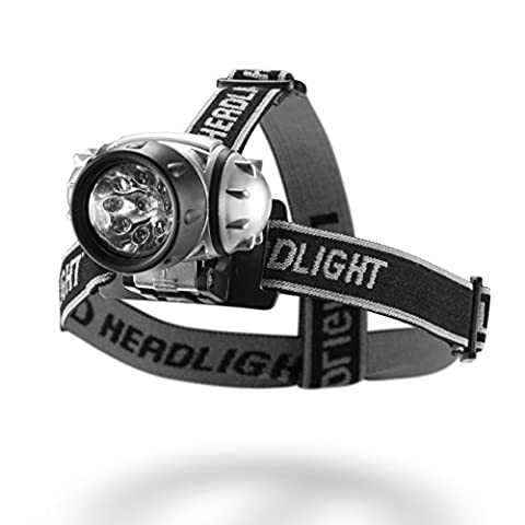 RamPro Headlamp 9-LED Flashlight with Strap – 4 Lighting Modes, Water/Shock Resistant Black Headlight, Battery Powered (HD AAA Batteries Included) | Use for Running Reading Hiking Hunting & - Mens Sprint Walker