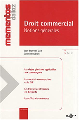 Livre gratuits Droit commercial : Notions générales pdf