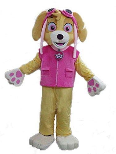 (rushopn Paw Patrol Skye Adult Mascot Costume Dog Fancy Suit Cartoon)