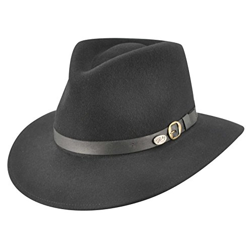 Bailey of Hollywood Briar Fedora Hat Black/Large