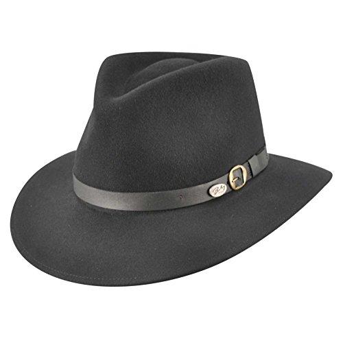 - Bailey of Hollywood Briar Fedora Hat Black/Large