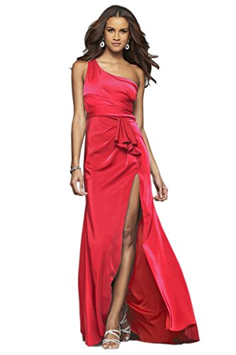 faviana red prom dress - 5