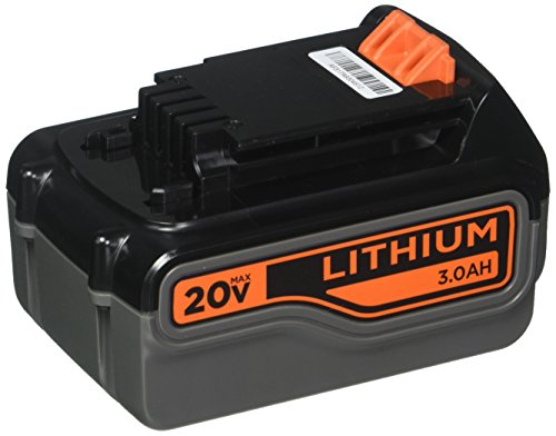 - BLACK+DECKER 20V MAX Lithium Battery 3.0 Amp Hour (LB2X3020-OPE)