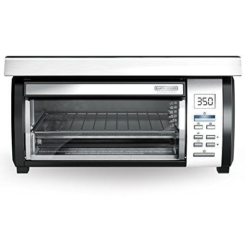 Ge Under Cabinet Mounting - BLACK+DECKER Spacemaker Under-Counter Toaster Oven, Black/Stainless Steel, TROS1000D