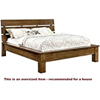 247SHOPATHOME IDF-7251CK Platform-Beds, California King, Brown