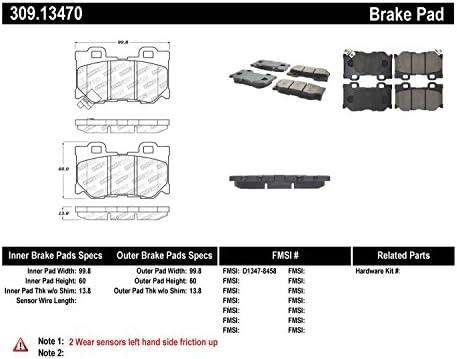 Semi-Metallic StopTech 104.14430 Brake Pad