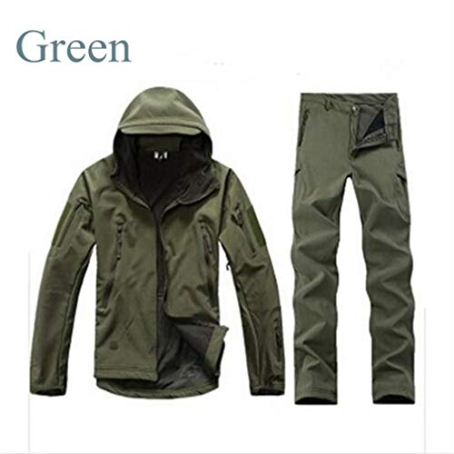 - Fishing Trousers Tactical Softshell Hunting Jackets Green XXL