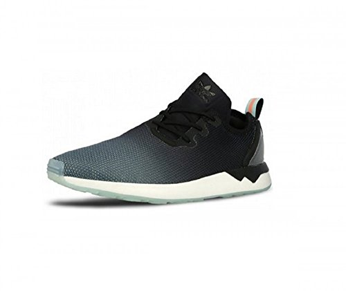 Adidas Sneaker ZX Flux Adv Asymmetrical Women Sneaker Trainer (39 1/3, Black/Blue)