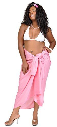 Sarong mundo rosa de mujeres o flecos gran sin de 1 cubre color tama Sarongs que un para BTAqrxwBZ