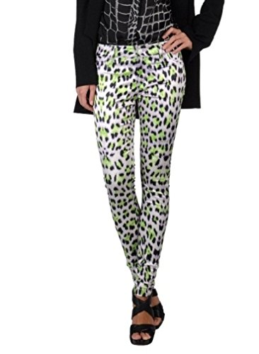 Just Cavalli Women's Animal Print Stretch Casual Pants US 31/EU 45 Multi-Color