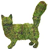 Cat Walking Topiary Mossed in Wire Frame - Add Live or Artificial Plants for a Centerpiece Works of Art