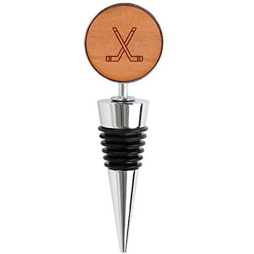 Hockey Sticks Wooden Wine Bottle Stopper, Reusable Wine Cork