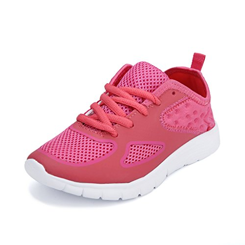 Hawkwell Breathable Lace Up Running Shoes Little Kid Big Kid  Pink Mesh 5 M Us Big Kid