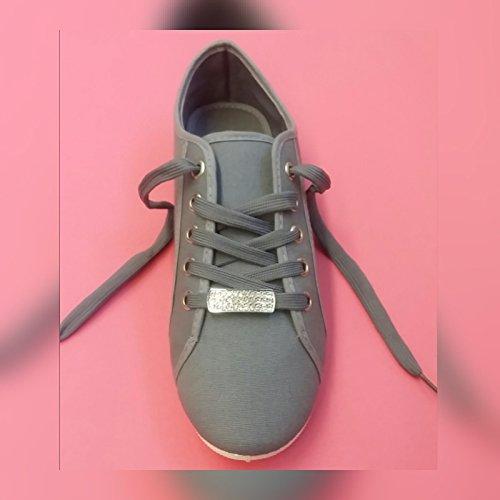 cordones Loria para mujer La Zapatos Plateado de BtxqPOT