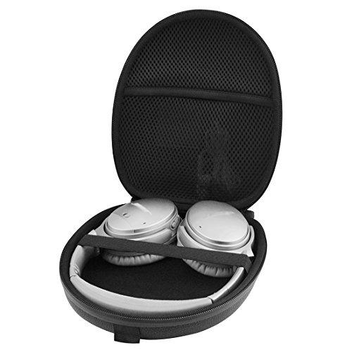 Linkidea Case for Bose QuietComfort QC35, QC25, QC15, AE2w, AE2i, AE2, SoundLink, SoundTrue Around-Ear Headphones II, Sony XB950B1 XB950N1 XB950BT, Hard Shell Carrying Case/Travel Bag (Black)