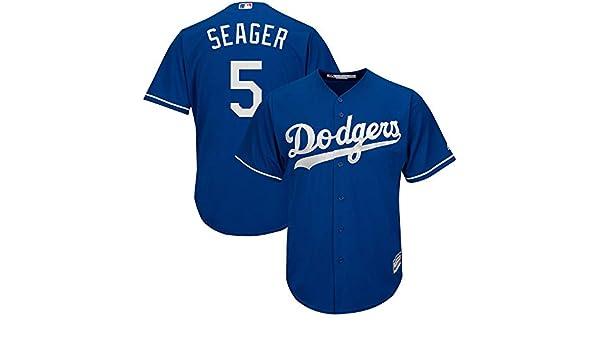 YQSB Camiseta de b/éisbol LA Los Angeles Dodgers NO.5 Seager