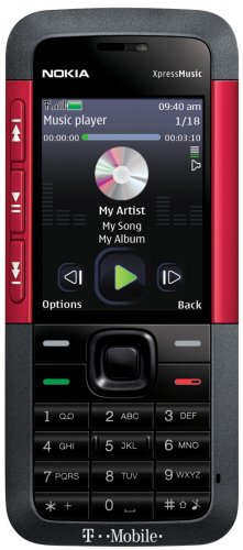 Amazon com: Nokia 5310 XpressMusic Phone, Red (T-Mobile): Cell