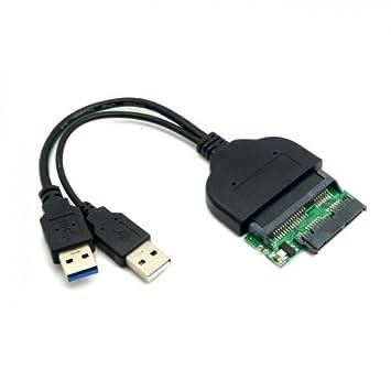 cablecc 1set USB 3.0/A SATA 22pin /& SATA a 16Pin Micro SATA Adaptador para 1.8/2.5 Disco Duro Conductor con Extral alimentaci/Ón USB Cable cablecc