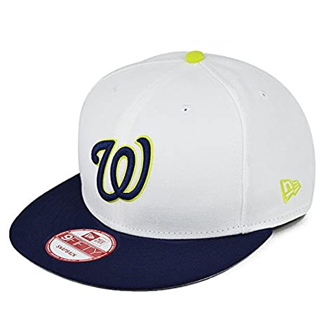 49f4961ad054a Image Unavailable. Image not available for. Color  Washington Nationals  White Cyber Green SNAPBACK 9Fifty New Era NBA Hat ...