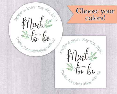 (Mint To Be Wedding Favor Stickers (#169-WH))