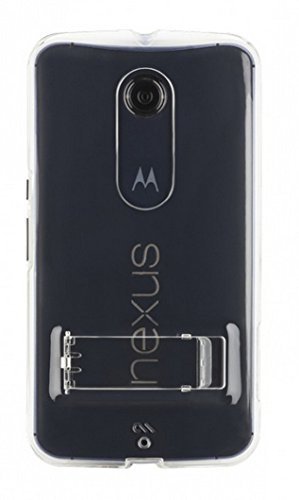 Google Nexus 6 Naked Tough Cases Clear/Clear Bumper (Case 6 Clear With Nexus Stand)