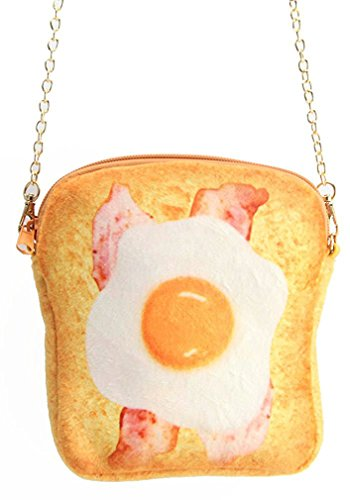 (Women Cute Novelty Crossbody Bag Creative Toasted Bread Shaped Purse Phone Bag (Style 2))