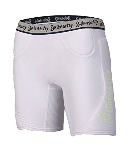 - Intensity Athletics Womens Low Rise Slider Shorts 28-30W X 5.5L White