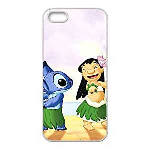 iPhone 5 5s Cell Phone Case White Disneys Lilo and Stitch 002 HIV6755169486410
