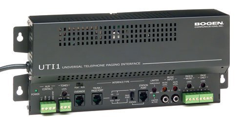 BOGEN UTI1 S 414 UNIVERSAL TELEPHONE INTERFACESINGLE ZONE Bogen UTI1 Universial Telephone Paging Interface |