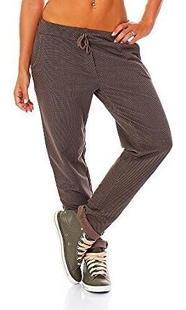 Italy Moda - Pantalón - para mujer bronce marrón claro 42: Amazon ...