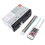 Akozon Universal 12V Car LCD Radio MP3 Music Player FM Radio AUX U Disk with Remote Control