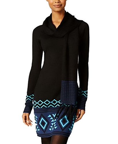 Energie Juniors' Patty Sweater Tunic With Scarf. Small. Cavar/Algiers Blue/Medival Blue