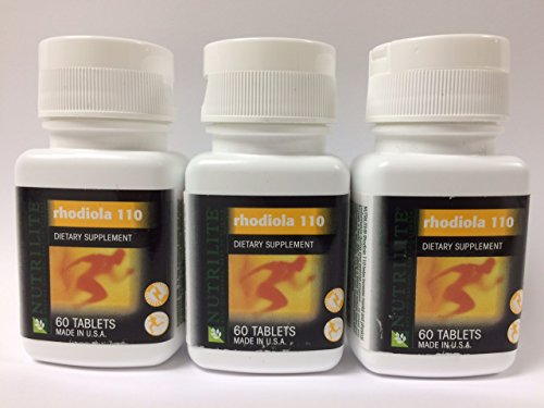 3 Pack Nutrilite® Rhodiola 110 Supplement Helps Increase Mental and Physical Performance - 60 Count