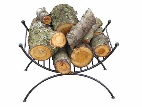 Gardeco LOGHOLD - Supporto per legna, colore nero