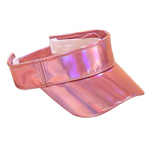 - ☀️☀️Athletics Hat Outdoor Adjustable Cap Summer Sunscreen Visor Empty Top Cap Hats for Both Men and Women (Pink)