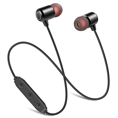 Wireless Earbuds, Wireless Sport Earphones Bluetooth Headphones HiFi Bass Stereo Sweatproof Earbuds w Mic 8 Hours Play Time, Noise Cancelling Headset for Workout Running Gym