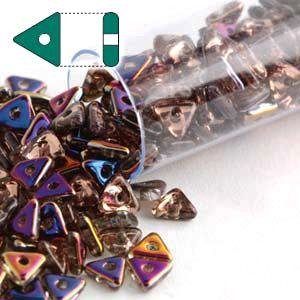 Orchid Tri (Magic Orchid Czech Glass Sead Tri Beads 4.6mm Tryangle 1.3mm Thick Approx 9 Gram Tube)