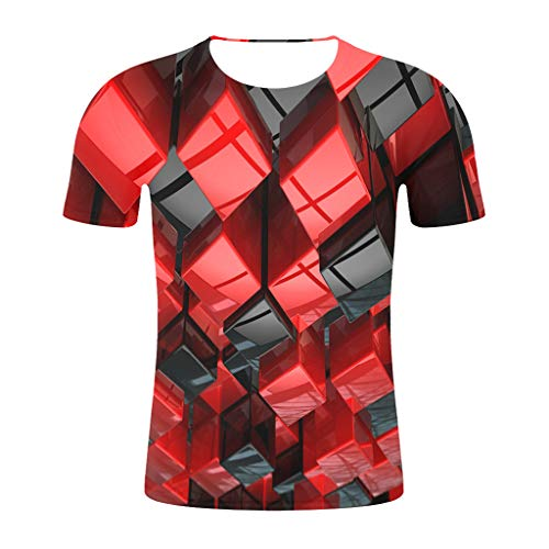 Men's 3D Graphic Workout Tee - Short Sleeve Gym & Training Activewear T - Training Activewear