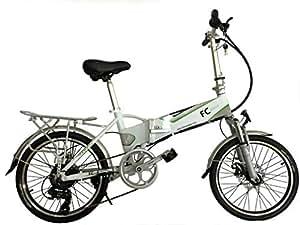 FC Bikes Bicicleta eléctrica Plegable con portabultos, e Bike, 250W, 36V, Motor Trasero, pedelec, Bicicleta Mujer, Bicicleta Hombre