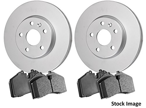 2005 For Mazda MPV Rear Anti Rust Coated Disc Brake Rotors and Ceramic Brake Pads