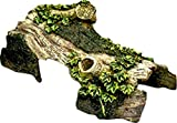 Reptile Café Bent Log Hide-Away Reptile Tank Décor, Small