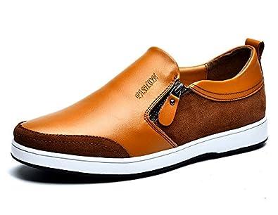 afa2d09e3092d7 シークレットシューズ トップシューズ スニーカー 靴 6cm身長アップ メンズシューズ (24, ブラウン)