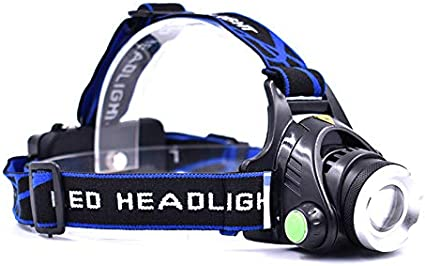 Waterproof Headlight Super Bright Head Torch LED USB Rechargeable Headlamp